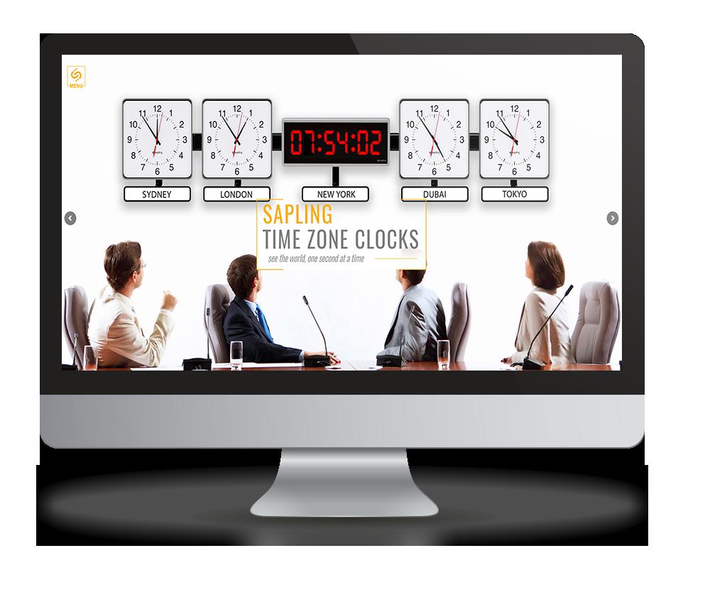 עיצוב ובניית אתר שעונים SAPLING TINE ZONE